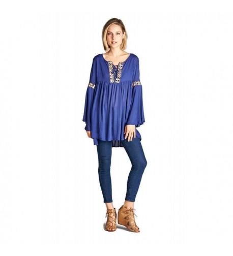 Velzera Embroidered Sleeve Tunic Dress