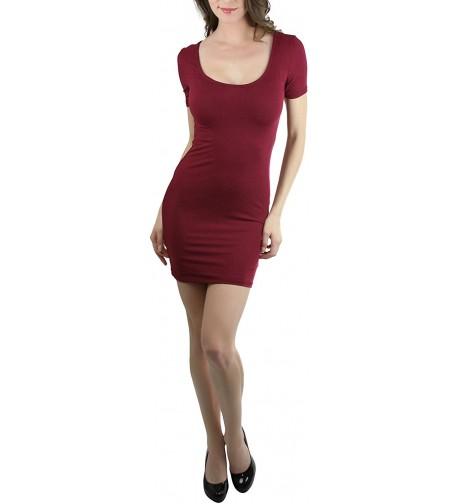 ToBeInStyle Womens Sleeve Scoop Mini Dress