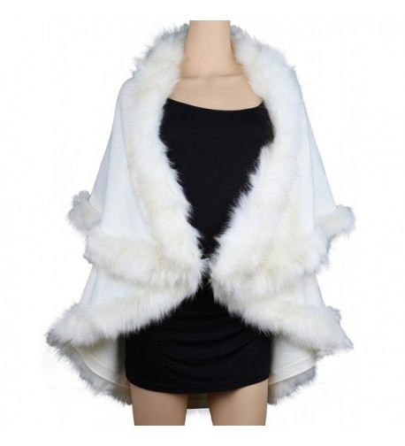 Womens Faux Coats Dress White