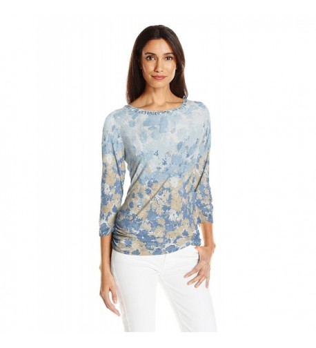 Ruby Rd Womens Floral Ruching
