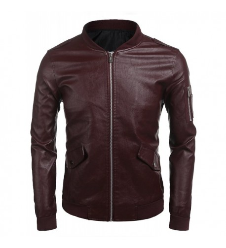 Zuckerfan Leather Jacket Hipster Outerwear