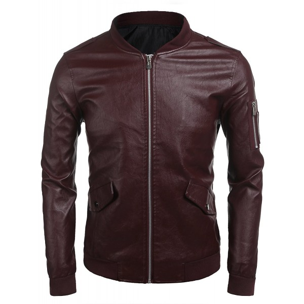 Zuckerfan Leather Jacket Hipster Outerwear