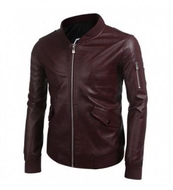 Men's Faux Leather Jackets