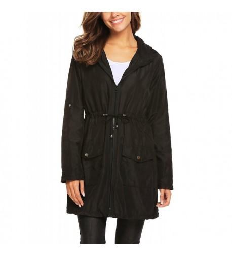 Vansop Waterproof Raincoat Outdoor Drawstring