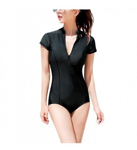 JOYMODE Women Vintage Zipper Swimsuit