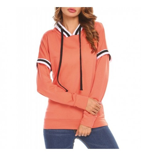 Easther Striped Shoulder Pullover Sweatshirt