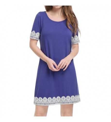 Allegra Womens Short Sleeves Purple