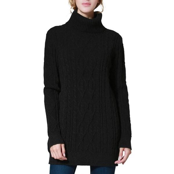 PrettyGuide Womens Sweater Turtleneck Pullover