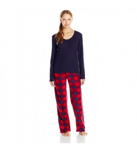 Intimo Womens Thermal Pajama Sleepwear