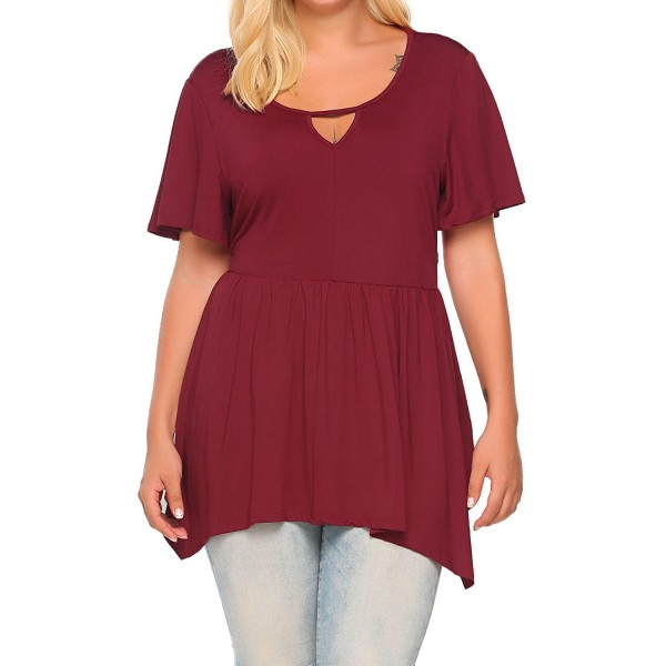 c856c4cc9f4c93 Women s Plus Size Casual Short Sleeve Comfy Fit T Shirt Tunic Top ...
