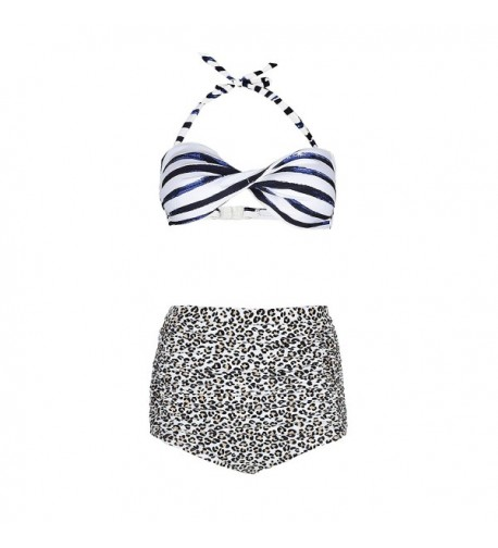 Geek Lighting Leopard Waisted Swimsuit