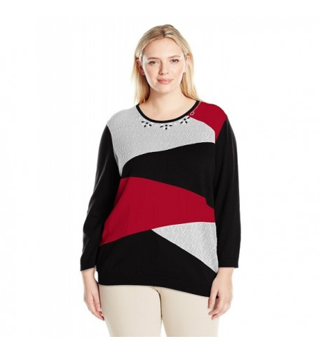 Alfred Dunner Classic Colorblock Sweater