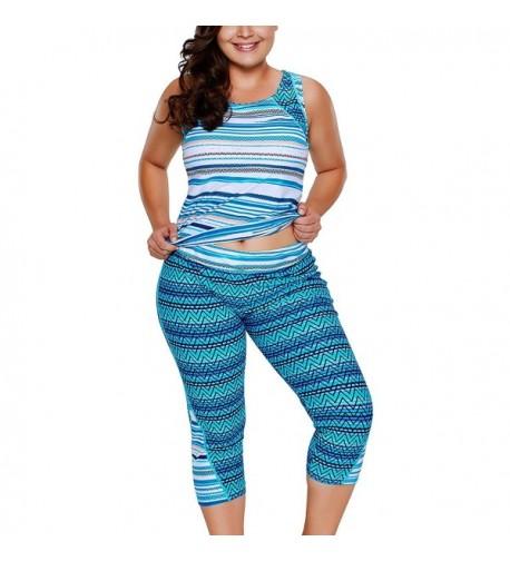 FARYSAYS Printed Sleeveless Tankini Swimsuit