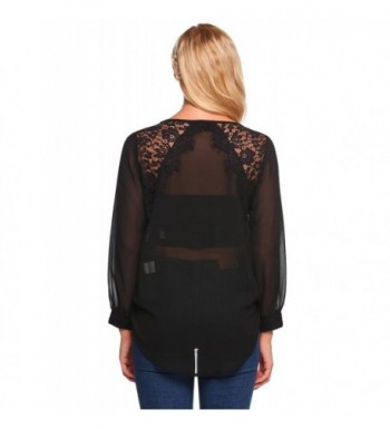 8dc5bc2a6364be Mofavor Womens Chiffon Sleeve Patchwork; Women's Blouses; Discount Women's  Button-Down Shirts; Cheap Designer Women's Clothing On Sale
