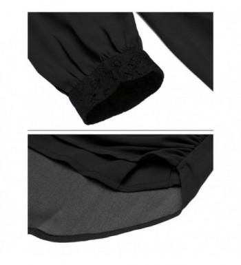 3e6cb200e5b01a Available. Mofavor Womens Chiffon Sleeve Patchwork; Women's Blouses;  Discount Women's Button-Down Shirts ...