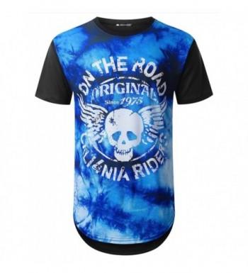 URBANTOPS Hipster Graphic Longline T shirt